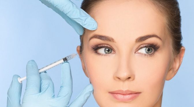 Dermal filler injection to treat fine lines and wrinkles